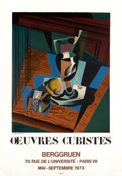 Oeuvres Cubistes by Juan Gris - colorful modern lithographic poster