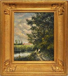 Barbizon Landscape by Jules Rene Herve
