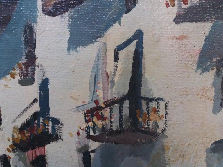 Abella. Original landscape cubist acrylic painting For Sale 5