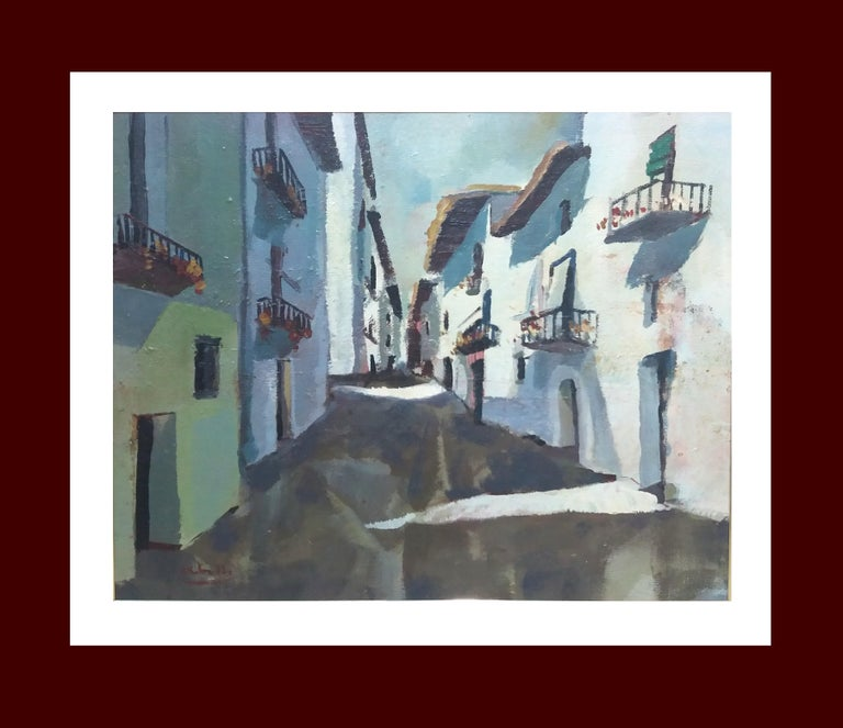 Juan Jose Abella Rubio Landscape Painting -  Abella. Original landscape cubist acrylic painting