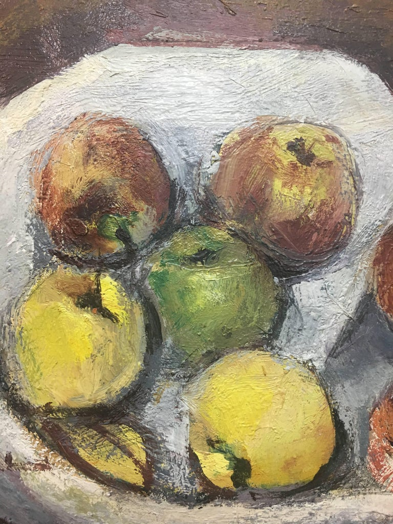 Abella original still life cubist acrylic painting Juan Jose Abella Rubio was born in Estercuel, a hamlet anchored in the Teruel mining basin in March 1944. In his painting the ocher and reddish colors of his first environment are well present. In