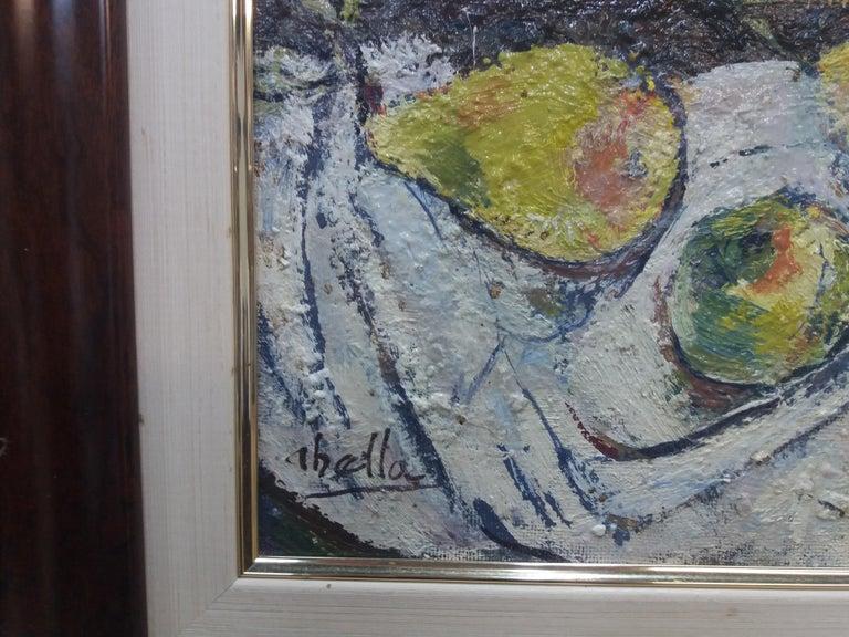 Abella original still life cubist acrylic painting For Sale 2
