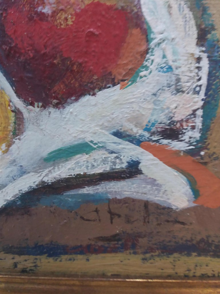 Abella original still life cubist acrylic painting For Sale 3