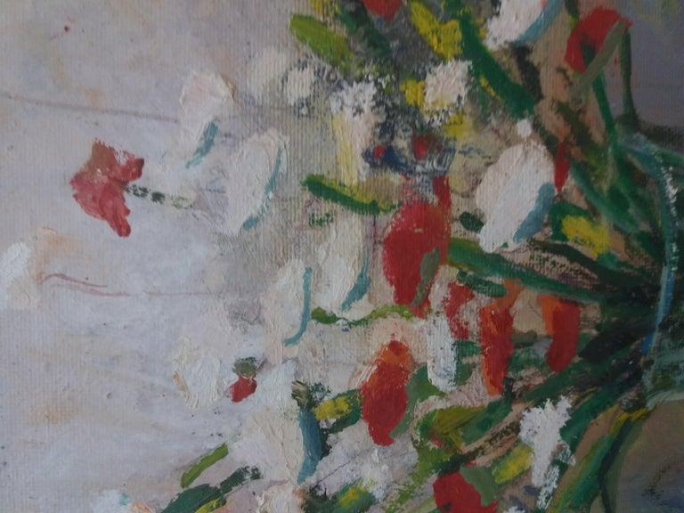 Abella original still life cubist acrylic painting For Sale 4