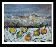 Abella original still life cubist acrylic painting
