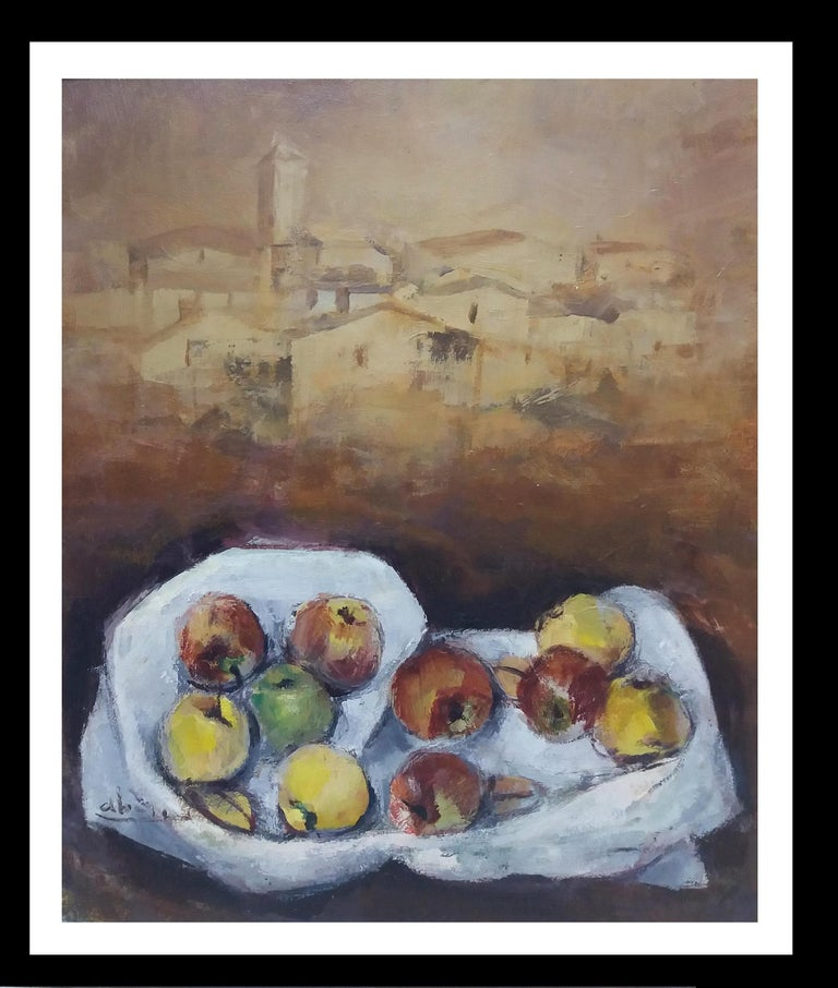 Juan Jose Abella Rubio Figurative Painting -  Abella original still life cubist acrylic painting