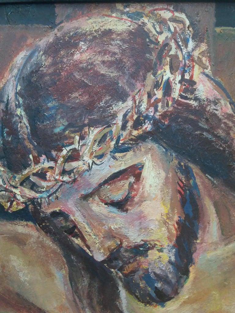 Jesus Christ religious theme.original acrylic painting For Sale 2