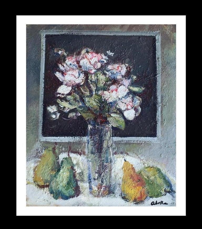 "Juan Jose Abella Rubio Still-Life Painting - ""NATURA MORTE"" 1975- Abella- Original-Oil canvas- still life PAINTING"