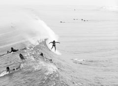 Untitled #5, Juno Beach, Beach Series, Small Black and White Photograph, 2017