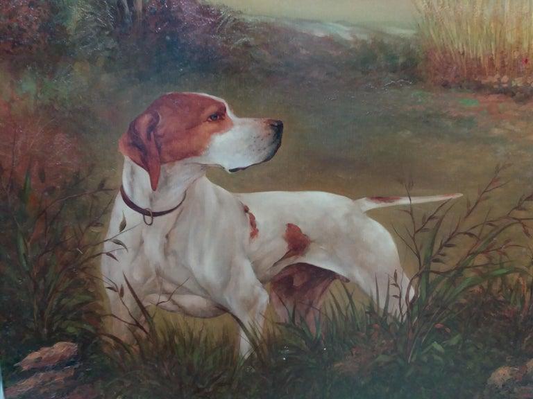 original hunting scene acrylic realist painting - Black Animal Painting by Juan Lara