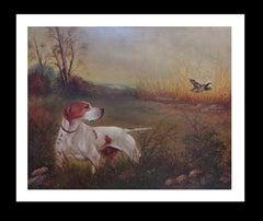 original hunting scene acrylic realist painting