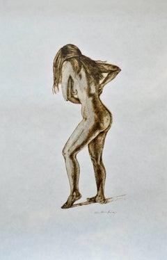 Serigraph  -- Standing Nude