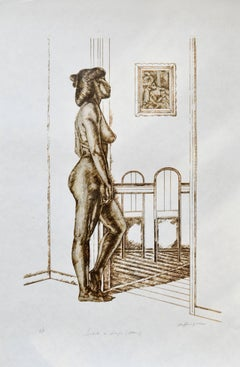 Nude Serigraph -- Tribute to Degas (Bather)
