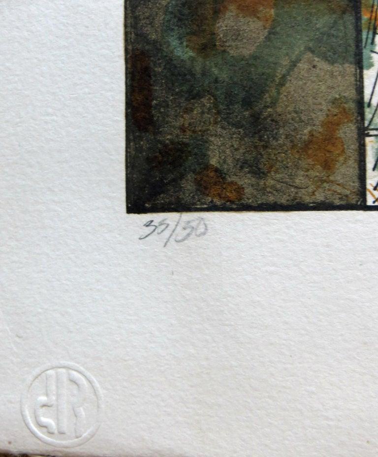 Untitled - Gray Print by Juan Manuel de La Rosa