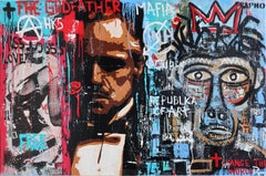"- "" AFRICA FEMINISM""  original street art mixed media painting"