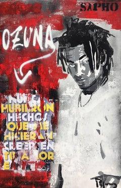 """ OZUNA "" 2018 original street art mixed media painting"
