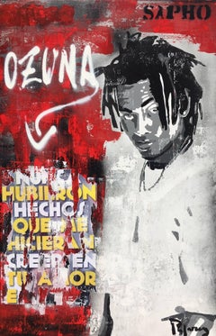 """ OZUNA "" 2018 original street art mixed media painting"