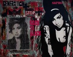 Back to Black. Original street art painting