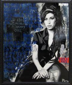 Black to Black   130X162 cm  - original. Street art