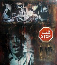 Boikot war. street art. Original Painting