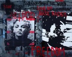 Freedom. STREET ART Original painting