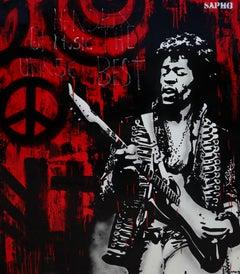 Hendrix. Original painting