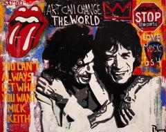 Mick original street art mixed media canvas painting