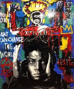 Milenium original street art mixed media painting