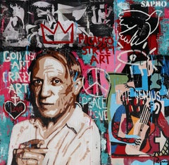 Paloma street art. original painting