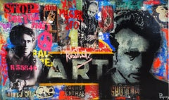 Stox original street art mixed media painting