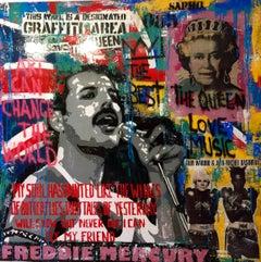 THE WINGNS  original street art mixed media painting