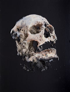 3D Painting of Skull: 'Wound Black Wound I'