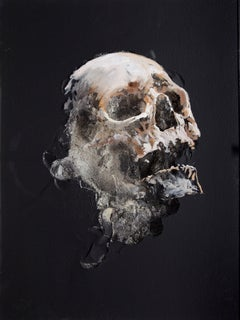3D Painting of Skull: 'Wound in Black III'