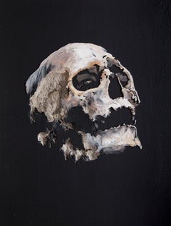 3D Painting of Skull: 'Wound in Black IV'