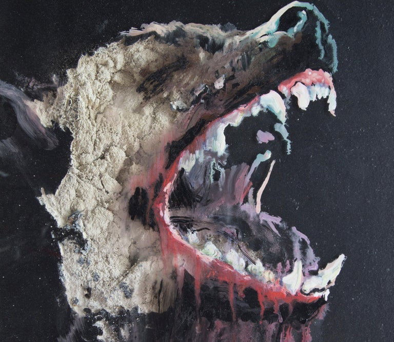 3D Painting of Wolf: 'The Hunter XXXIX' - Contemporary Mixed Media Art by Juan Miguel Palacios