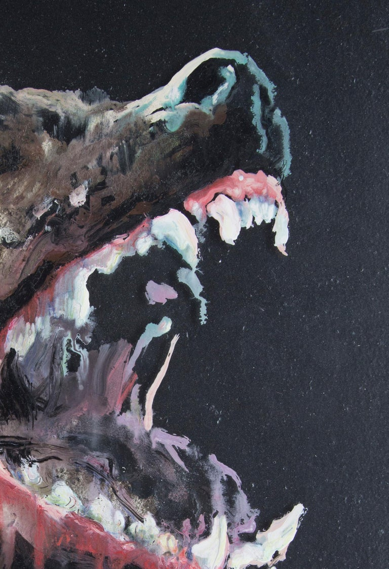 3D Painting of Wolf: 'The Hunter XXXIX' For Sale 1