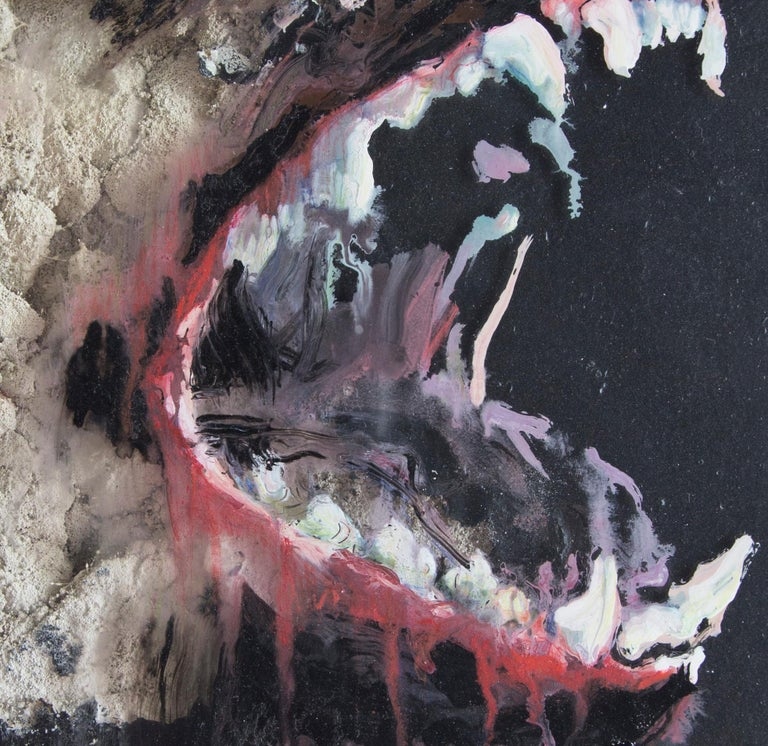 3D Painting of Wolf: 'The Hunter XXXIX' For Sale 3