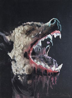3D Painting of Wolf: 'The Hunter XXXIX'