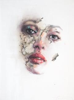 3D Portrait Painting of Woman: 'Wounds CCLIII'