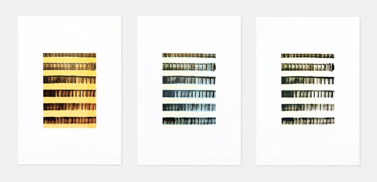 Juan Uslé Abstract Print - Untitled, Triptych, Abstract Art, Late 20th Century