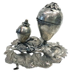 Judaic Silver Double Spice Container, Eastern Europe, 18th-19th Century