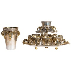 Judaica Sterling Wine Pouring Set