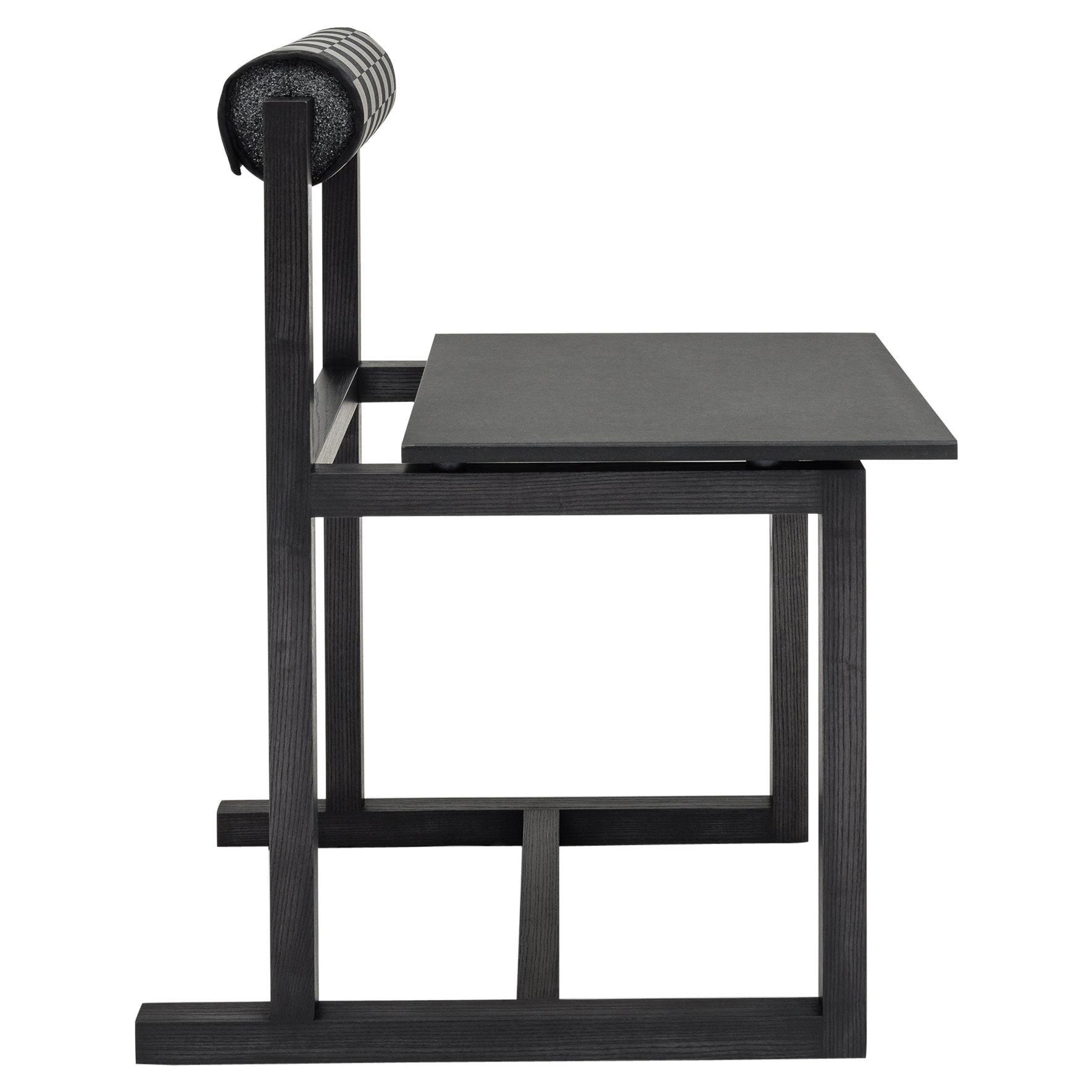 Judd-Nelson Modern Chair in Ebonized Ash Wood