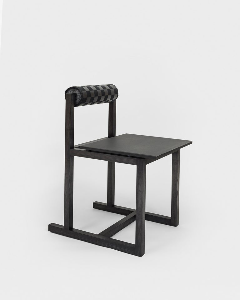 American Judd-Nelson Modern Chair in Ebonized Ash Wood, in Stock For Sale