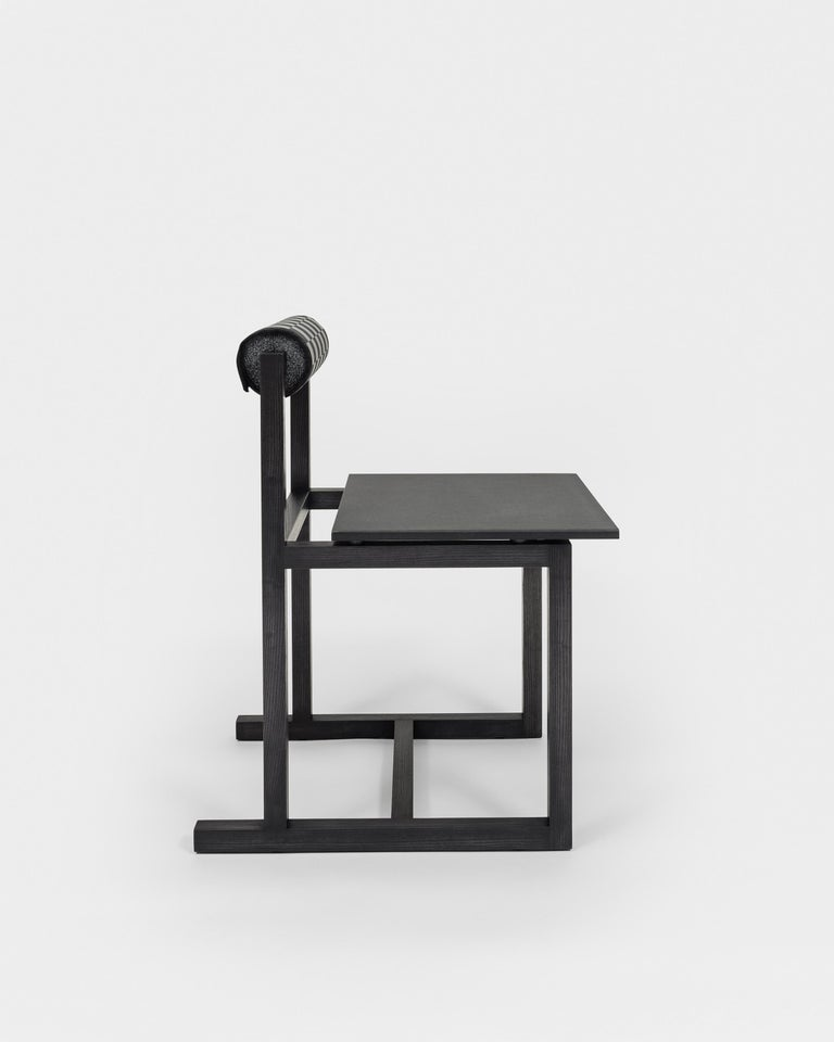Judd-Nelson Modern Chair in Ebonized Ash Wood, in Stock In New Condition For Sale In Brooklyn, NY