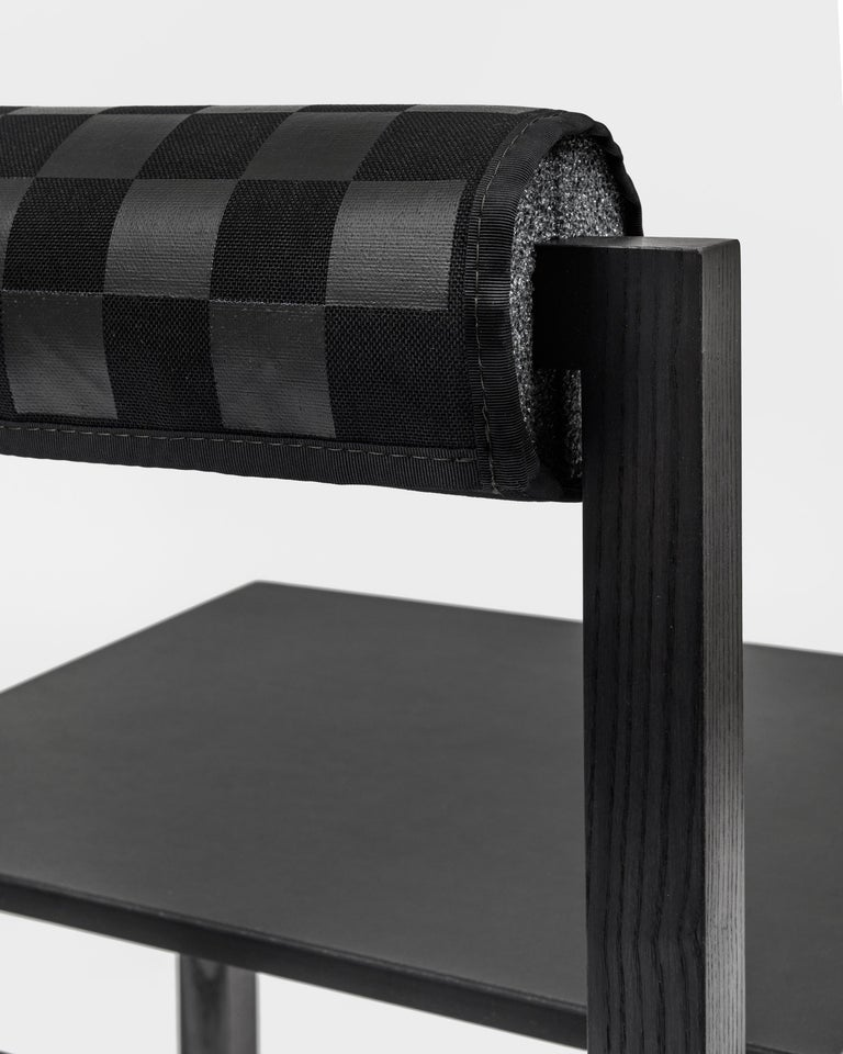 Judd-Nelson Modern Chair in Ebonized Ash Wood, in Stock For Sale 1