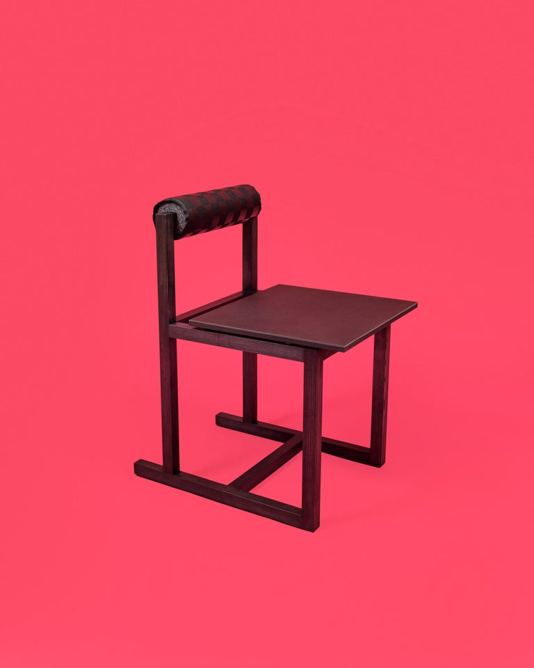Judd-Nelson Modern Chair in Ebonized Ash Wood, in Stock For Sale 2