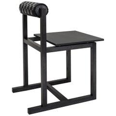 Judd-Nelson Modern Chair in Ebonized Ash Wood, in Stock