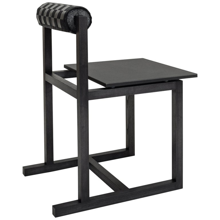 Judd-Nelson Modern Chair in Ebonized Ash Wood, in Stock For Sale