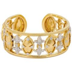 Jude Frances Marquis Fleur 2.28 carat Diamond and 18 karat Gold Cuff Bracelet